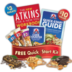 Get 3 FREE Atkins Bars + QuickStart Kit