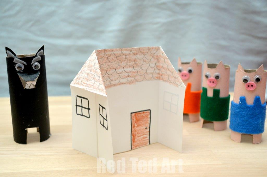 3-little-pigs-paper-towel-rolls