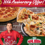 30 Cent Pizza at Papa John's When You Buy 1 Large w/ Promo Code (Exp 1/26)