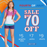 Up to 70% Off P.S. from Aeropostale For the 4th of July Sale!