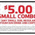 Quizno's- Get a Small Combo for Just $5 w/ Printable Coupon (Thru August 5th)
