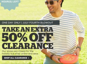 Men's Wearhouse- Extra 50% Off ALL Clearance! (TODAY ONLY!)