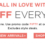 The Limited – 50% Off Everything In-Stores and w/ Online Promo Code