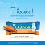 FREE LUNA Carrot Cake Bar! (FIRST 10,000!)