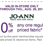 JoAnn Fabrics- Get 60% Off Any One Regular Priced Fabric w/ Printable Coupon (Exp. 8/29)