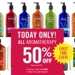 Bath and Body Works 50% Off Aromatherapy Products – TODAY ONLY!