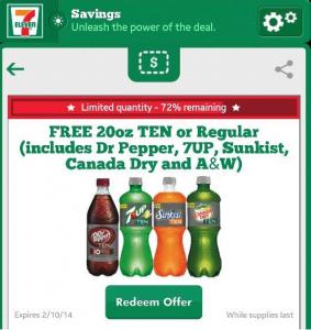 7 eleven free soda
