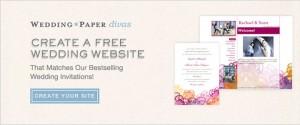 Create a FREE Wedding Website from WeddingPaper Divas!