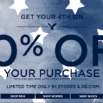 American Eagle 40% Off Promo Code + Free Shipping (4th of July Sale!)