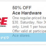 Ace Hardware: Get 50% Off One Item w/ Printable Coupon (Valid 11/30 Only)