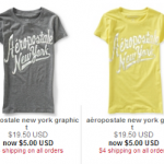Aeropostale Flat Rate Shipping of Only $4! + $5 Graphic T-Shirt Sale