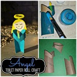 Angel Girl Toilet Paper Roll Craft For Kids