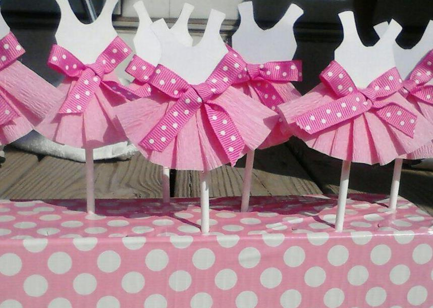 Ballerina Cupcake Baby Shower Toppers