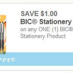 $1 off Any BIC Stationary Item Printable Coupon (FREE Pens at Walmart!)