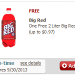 Safeway- Get a FREE Big Red 2 Liter (Check Your Digital Coupons!)