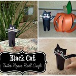 DIY: Easy Black Cat Toilet Paper Roll Craft For Kids (Great For Halloween!)