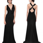 Black V-neck Cross Back Bridesmaid Dress 75% Off!