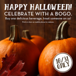Caribou Coffee: Buy One Drink Get One FREE w/ Coupon! (10/31 ONLY)