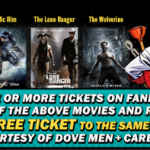 Fandango Movie Tickets – Buy One Get One Free (The Lone Ranger, Man of Steel, The Wolverine or Pacific Rim)