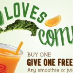 Jamba Juice: Buy One Smoothie or Juice, Get One Free w/ Coupon! (Exp 2/17)