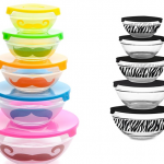 Groupon: 5-Piece Glass Bowl Set with Lids Only $9.99
