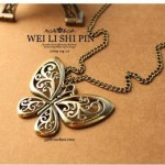 Pretty Bronze Butterfly Necklace ONLY $1.29 Shipped (Reg $10.88!)