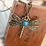 Vintage Bronze Dragonfly Necklace ONLY $1.39 Shipped!