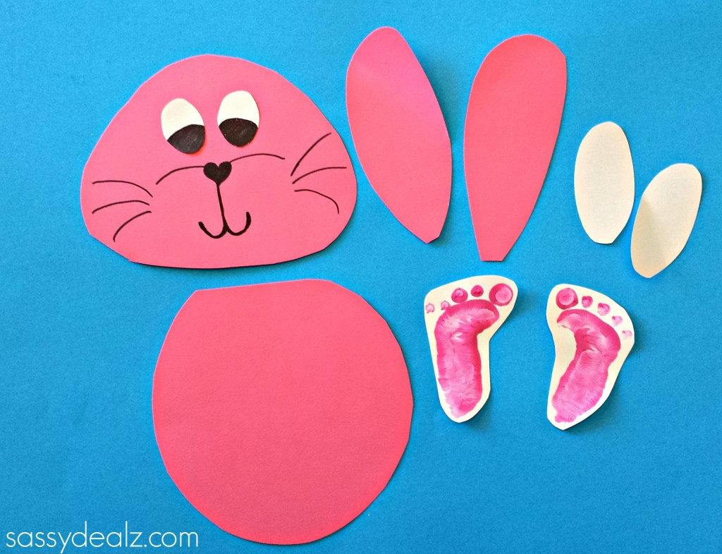 bunny footprint craft