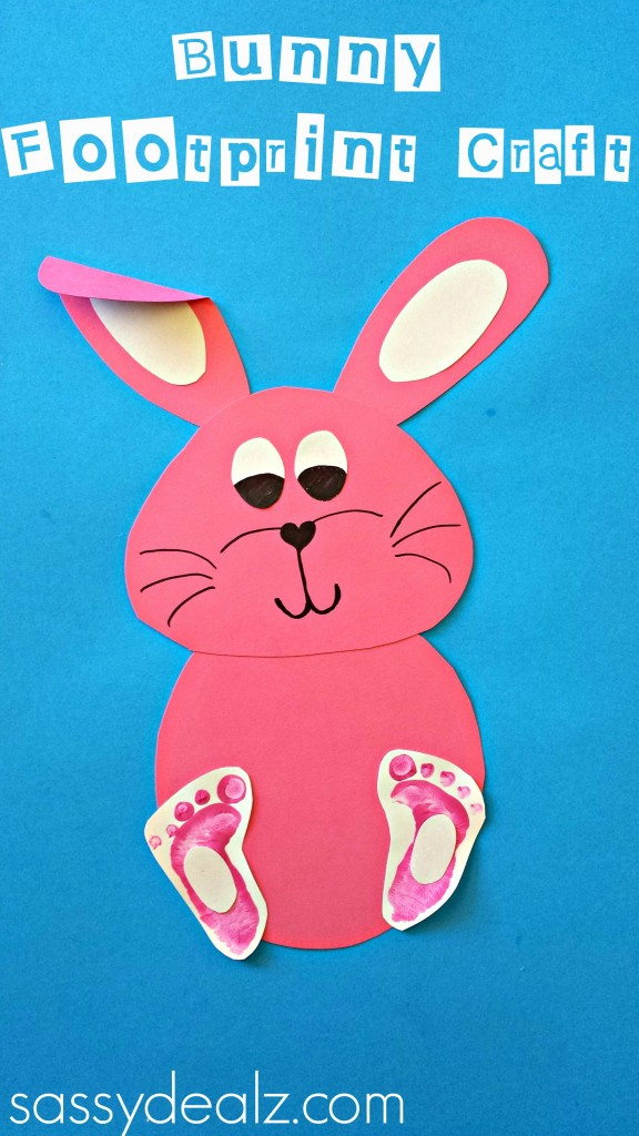 bunny footprint craft easter