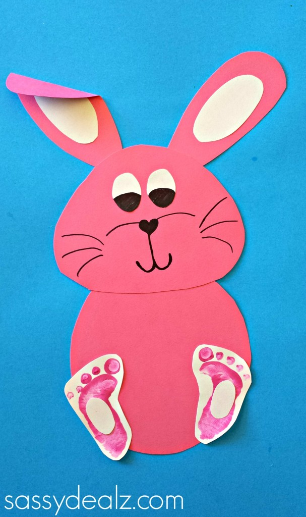 bunny footprint craft