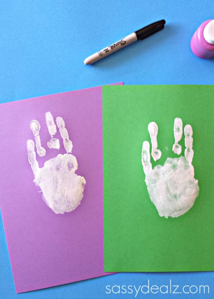 bunny easter handprint craft