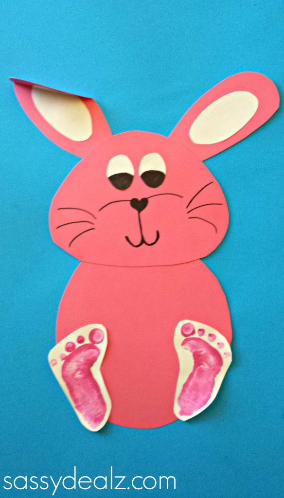 bunny rabbit footprint craft