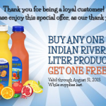 Buy One Indian River Select Liter Product Get One Free Printable Coupon (First 5,000!)