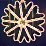 DIY Candy Cane Door Wreath For Christmas