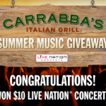 Play the Carrabba's Live Nation Summer Music Instant Win Game (I JUST WON $10 Concert Cash!!)