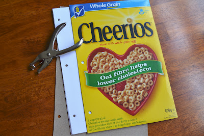 cereal box notebook