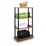 *HOT* Furinno Cherry Finish 4 Tier Shelf Unit Only $22.18 + Free Shipping (Reg. $59.99!)