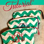DIY Monogrammed Chevron Makeup Bag