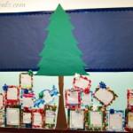 DIY Christmas Tree & Presents Classroom Bulletin Board Idea