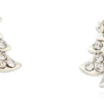 Silver Rhinestone Christmas Tree Earrings Only $3.61 + Free Shipping!