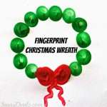 Cute Fingerprint Christmas Wreath Craft For Kids