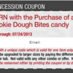 Cinemark Theater – FREE Small Popcorn w/ Purchase of Sour Patch or Cookie Dough Bites Printable Coupon