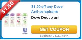 $1.50/1 Dove Deodorant Printable Coupon + Walgreens Deal