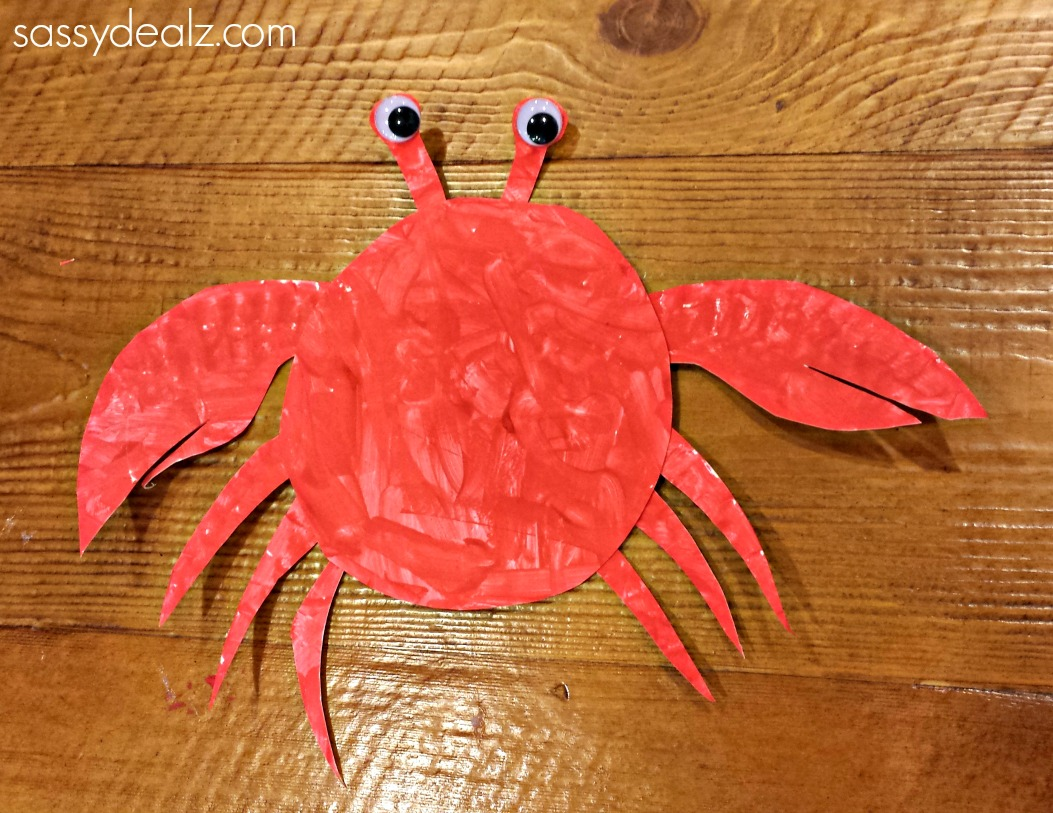 crab-paper-plate-s & Paper Plate Crab Craft For Kids - Crafty Morning