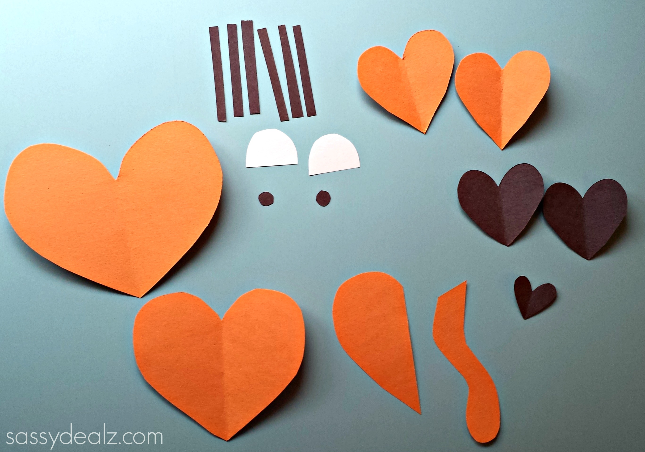 heart tiger paper craft