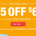 CVS -$15 off a $60 Purchase Online Coupon Code + FREE Shipping Code!