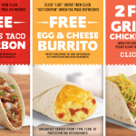 Del Taco – FREE Grilled Chicken Tacos + More Printable Coupons