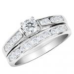 1/2 Carat Diamond Engagement Ring +Wedding Band (White Gold) -71% off WOW!