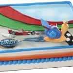 Disney's Turbo Snail Birthday Cake and Cupcake Ideas on a Budget