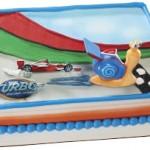 Disney's Turbo Snail Birthday Cake and Cupcake Ideas on a Budget